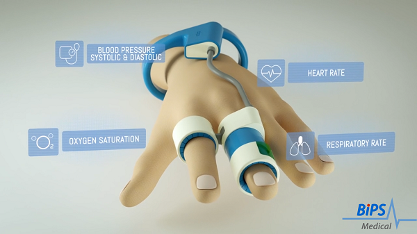 The BiPS wearable device for vital sign monitoring