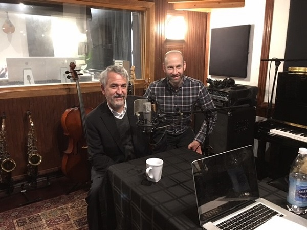 Chairman and CEO Steve Rhodes (left) joins host Steven Shalowitz for his interview on the IsraelCast podcast.