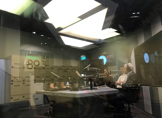 Todd and Eric in the Money FM studio