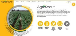 AgroScout website page